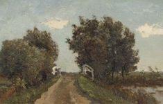 Paul Joseph Constantin Gabriël - Landschap met brug