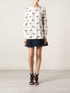 Tory Burch Horse Print Blouse -