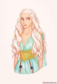 Daenerys Targaryen by Eskatoad on tumblr