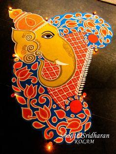 #kolamdesign #rangolidesign #kolamart #ganapathysketch #ganapathyart #ganeshaimage #ganeshadrawing