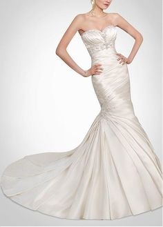 ELEGANT SATIN SWEETHEART MERMAID WEDDING DRESS LACE BRIDESMAID PARTY COCKTAIL EVENING GOWN IVORY WHITE FORMAL BRIDAL