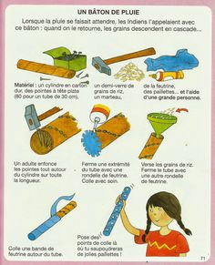 Crapouillotage: Baton de pluie Fun Crafts To Do, Diy Arts And Crafts, Diy Crafts For Kids, Classroom Window Decorations, Music Instruments Diy, Rain Sticks, Music Crafts, Cowboy Birthday, Indian Crafts