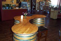 wine barrel bar | Custom Bar made of wine barrels, Wine Wood Creations