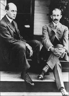 The Wright brothers, Orville (1871-1948) and Wilbur (1867-1912), were two Americans credited with inventing and building the world's first successful airplane and making the first controlled, powered and sustained heavier-than-air human flight, on December 17, 1903. In the two years afterward, the brothers developed their flying machine into the first practical fixed-wing aircraft. Although not the first to build and fly experimental aircraft, the Wright brothers were the first to invent aircraft controls that made fixed-wing powered flight possible.