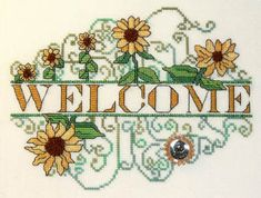 Sunflower Welcome - Cross Stitch Pattern