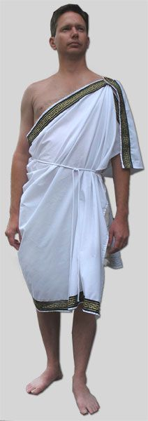 Garb the World Historical Costumes Zeus Costume, Toga Party Costume, Poseidon Costume, Greek God Costume, Greek Goddess Costume, Greek Chiton, Greek Toga, Greek Dress, Ancient Greek Costumes