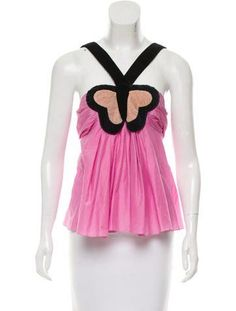 Sonia Rykiel Pleat-Accented Butterfly Top