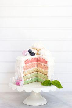 Rainbow Layer Cake   Freutcake