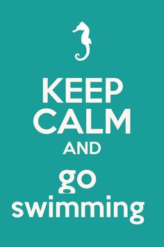 Swimming... Swimming this week!