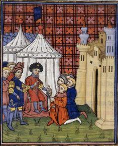 BL Royal 20 C VII Chroniques de France ou de St Denis  Inverted Rondel Dagger Suspension