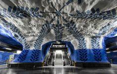Die U Bahn Stationen in Stockholm