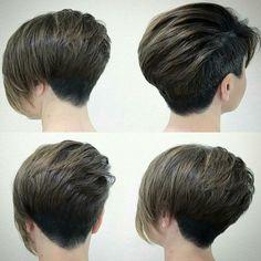 Hottest Short Pixie Haircuts, Undercut for Women Short Hair Medium Hair Cuts, Short Hair Cuts For Women, Medium Hair Styles, Curly Hair Styles, Haircuts For Long Hair, Girl Haircuts, Hairstyles Haircuts, Kids Short Haircuts, Short Asymmetrical Haircut