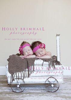 Newborn twins by holly brimhall photography