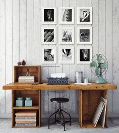 Horse Art Print Gallery Wall Art Decor set of 9 prints black | Etsy