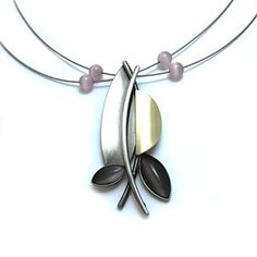 Christophe Poly Necklace with Light Mauve Acrylic.  Crono Design is located in Montreal, Quebec