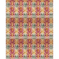 """Ikat 7'10"""" x 10'4"""" Rug in Raspberry from the Taaj Studios event at Joss and Main!"""