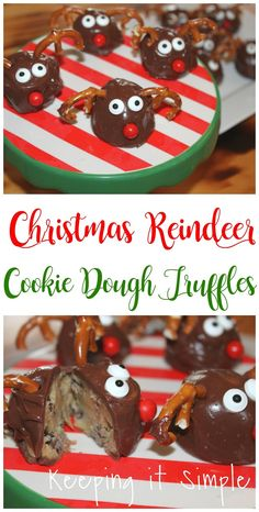 Christmas treat idea- Reindeer cookie dough truffles ad #bakewithbetty