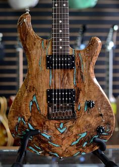 Knaggs Guitars  Severn T3 Trembuck with inlaid Turquoise stone on Spalt Maple top