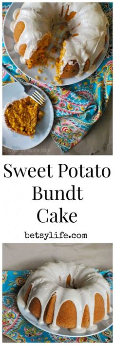 Sweet Potato Bundt Cake. An amazing fall dessert recipe. Great for the holidays too!