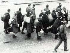 WW2 in the Netherlands - Men hunt in Rotterdam. All men from 17 to 40 were arrested and deported to Germany to work in the German war industry