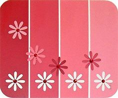 Punched Paint Chip Cards  *Tip: Remove the print from the card with a white Staedtler Mars plastic eraser. The printing on most paint chips can be rubbed away with this eraser, leaving nothing but a slightly duller spot behind.*