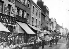 An poster sized print, approx (other products available) - Stalls along New Cut street market, Waterloo, London. (Photo by Hulton Archive/Getty Images) - Image supplied by Fine Art Storehouse - poster sized print mm) made in Australia London Pictures, Old Pictures, History Of Wine, Asian History, British History, Cut Photo, Waterloo London, Old London, Historical Photos