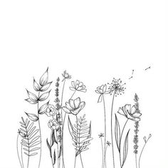 A list of 30 ways to draw flowers - From roses, poppies, tulips, wildflowers, and more. Learn how to draw flowers using simple line drawings. drawing 30 Ways to Draw Flowers Simple Flower Drawing, Easy Flower Drawings, Easy Disney Drawings, Pencil Drawings Of Flowers, Simple Line Drawings, Flower Sketches, Floral Drawing, Easy To Draw Flowers, Daisy Drawing