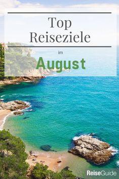 Wo Du Deinen Urlaub im August verbringen solltest. Tolle Destinationen zum Entspannen. #urlaubstipps All Inclusive Urlaub, Water, Outdoor, Budget Travel, Gripe Water, Outdoors, Outdoor Games, The Great Outdoors
