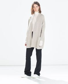 Oversize jacket with pockets