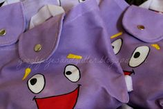 DIY Dora Birthday Party Backpacks