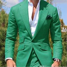 Latest Design Mens Dinner Suit Groom Tuxedos Groomsmen Wedding Suits Blazer for men Trendy Green (jacket +Pants) Tuxedo Wedding Suit, Groom Tuxedo, Tuxedo For Men, Wedding Suits, Wedding Tuxedos, Wedding Groom, Mens Green Blazer, Black Suit Men, Blazer Suit