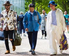 "billy-george: "" Poggy and the United Arrows team Spotted at Paris Fashion Week Photo by Style Du Monde """