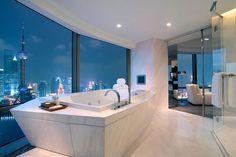 Beautiful bath! #home #bathroom #window