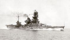 Japanese Battleship-Aircraft Carrier hybrid Hyūga, during her sea trials, 23 August 1943 Naval History, Military History, Imperial Japanese Navy, Merchant Marine, Navy Aircraft, Navy Ships, Aircraft Carrier, Battleship, World War Ii