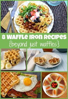 8 Waffle Iron Recipes Beyond Just Waffles www.TodaysMama.com #waffles