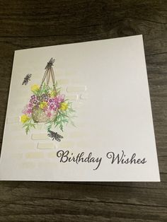Birthday Wishes, Birthday Cards, Cardio Cards, Card Io, Handmade Cards, Stamping, Crafts, Bday Cards, Craft Cards