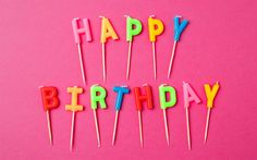 Download wallpapers Happy Birthday, candles, letters candles, congratulations, Birthday postcard