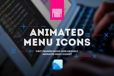 FramerJS Animated menu icons by framy on Creative Market