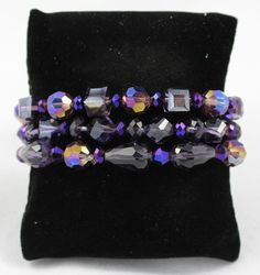Dark Purple 3 Strand Bracelet