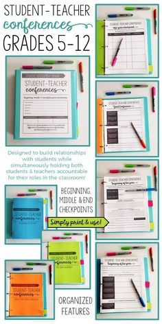 Student-teacher conferences grades designed to build relationships between students and teachers Student Teacher, Teacher Tools, Teacher Resources, Teacher Stuff, Teachers Toolbox, Teaching Ideas, Teacher Sites, Teaching Skills, Teacher Binder