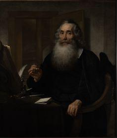 Bartholomeus van der Helst, Portret van Petrus Scriverius (1651), Collectie Museum De Lakenhal