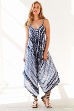 Ecote Tie-Dye Extreme Wide-Leg Jumpsuit - Urban Outfitters