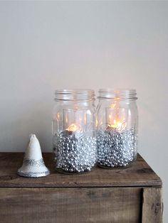 Christmas Mason Jar Luminaries - Set of 2. $14.00, via Etsy.