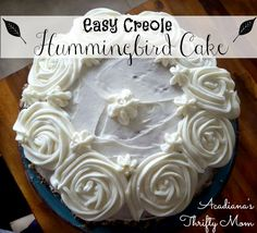 Easy Creole Hummingbird Cake This Easy Creole Hummingbird Cake is my all-time favorite cake to make from scratch. Not only is this the most moist cake ever, but it tastes amazing! My husband's birt...
