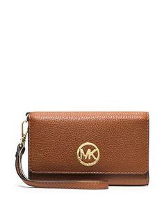 81982dbce4b6 Michael Michael Kors Fulton Large Multifunction Wristlet Wallet Michael Kors  Bags Sale, Michael Kors Crossbody
