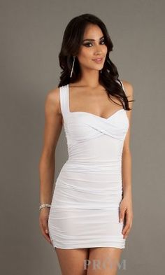 White Short Tight Cocktail Dresses Cheap [cheap white cocktail dress] - $14