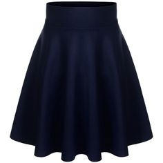 BIADANI Women Versatile Flared Stretch Wide Band Skater Skirts Magenta... ($9.99) ❤ liked on Polyvore featuring skirts, blue flared skirt, blue circle skirt, flared skirt, stretchy skirt and stretch skirts