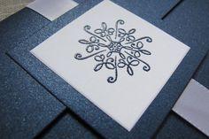 Winter Wedding Invitation Pocket Fold by MoonlightStamper on Etsy, $6.00