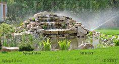Kertépítés, kerttervezés ÖTLETEK Fountain, Waterfall, Wood, Garden, Outdoor Decor, Crafts, Garten, Manualidades, Woodwind Instrument