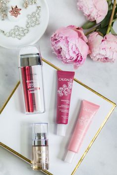 The best new skincare products for women in their 20s - including the best anti-aging moisturizers and eye creams + a review of L'ORÉAL Revitalift Bright Reveal Dual Overnight Moisturizer, Caudalie Vinosource Intense Moisture Rescue Cream, Caudalie Vinosource Moisturizing Sorbet, and Caudalie Premier Cru Eye Cream by beauty blogger Ashley Brooke Nicholas